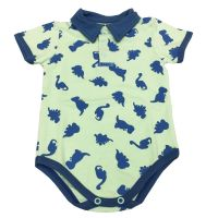 Body polo dino estampado